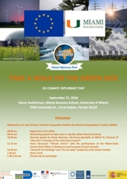 EU Climate diplomacy day flyer